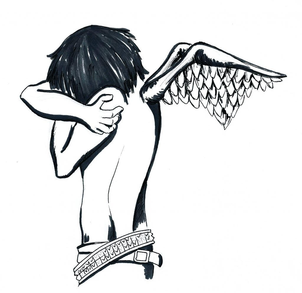 Fallen angels elfe creative emo angel transformation alternative style sketches thecheapjerseys Image collections